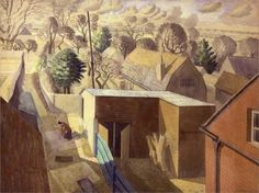 Ravilious-View Fromthe Brick House, Great Bardfield, 1932