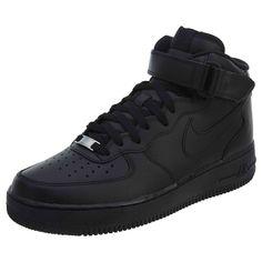 (eBay link) Nike Men s Air Force 1 Mid Shoes Black Black 315123- d3eb68aeac5