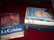 Lot 4 French Cookbooks HB La Cuisine Escoffier Bio Larousse Gastronomique ++