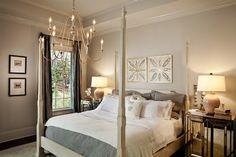 Walls: Restoration Hardware Stone.  Trim: Sherwin Williams Creamy.  Parade of Homes 2012 - transitional - Bedroom - Charlotte - LGB Interiors
