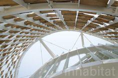 Uruguay's Pavilion is built with recycled materials, ready to be reclaimed again once the Expo is over!