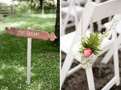 DIY wooden wedding sign outdoor wedding in Ireland