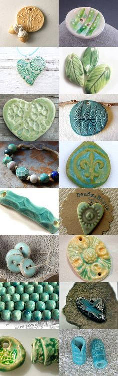 Here is another #EtsyTreasury #CeramicBead Collection: Ceramic Bead Collection 2 by @MarshaNealStudio on @Etsy