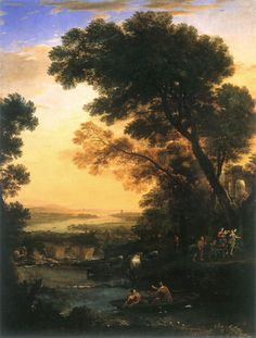 allegoryofart:  Ideal Landscape with the Flight into Egypt,Claude Lorrain, 1663