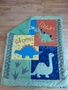 Dinosaur Baby Comforter by RaeofSunBags on Etsy, $30.00