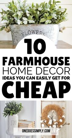 10 DIY Farmhouse Decor That Are Super Cheap and Easy, Home Decor, 10 farmhouse decor on a budget ideas Country Farmhouse Decor, Farmhouse Style Kitchen, Rustic Decor, Farmhouse Ideas, Farmhouse Design, Modern Farmhouse, Coastal Farmhouse, Industrial Farmhouse, Modern Country