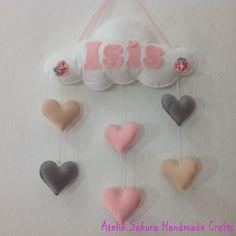 Enfeite Porta de Maternidade Móbile para a Isis