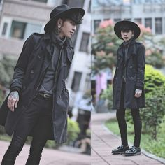 Witch Fashion, Gothic Fashion, Punk Goth Fashion, Male Fashion, Steampunk Fashion, Estilo Dark, Goth Guys, Goth Men, Casual Goth