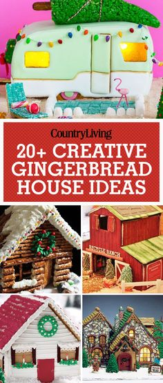 These gingerbread house ideas are creative and double as dessert for holiday parties. Decorate your house with an adorable cozy pretzel cabin that is easy-to-make from pretzels, candy and frosting. As easy as these are to make, they're even sweeter to eat Cool Gingerbread Houses, Gingerbread House Parties, Gingerbread Village, Christmas Gingerbread House, Gingerbread Decorations, Gingerbread House Decorating Ideas, Gingerbread Cookies, Graham Cracker Gingerbread House, Food Decorations