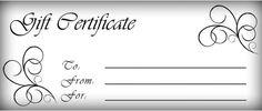 gift certificates templates | Free printable gift certificate template pictures 3