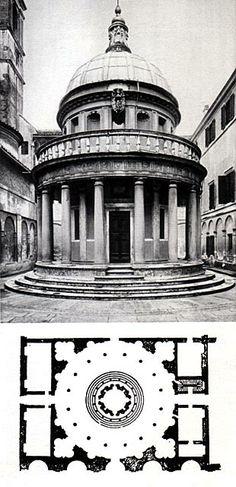 Donato Bramante: Tempietto, 1500-luvun alku, renessanssi Michelangelo, Ancient Greece, Architecture, Renaissance, Rome, Tent, Pergola, 1, History