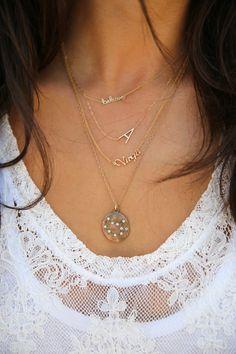SHY By Sydney Evan #Believe necklace + Rebecca Minkoff Zodiac Virgo Neckalce