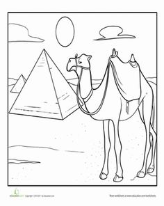Camel coloring pages Camel ideas Pinterest Camels