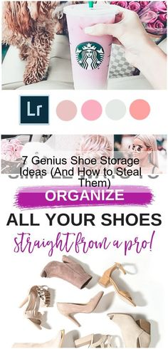 Have a shoe storage problem? Not only do we buy way more shoes than we would ever need (#worthit), they're also super clunky and oddly shaped. In other words, an organizational nightmare. To help you out, I put together this list of 7 super clever shoe storage hacks. Check them out. Your closet will thank you! #shoeorganization #organization...,7 Genius Shoe Storage Ideas (And How to Steal Them),  #Genius #Ideas #shoe #Steal #Storage Shoe Storage Hacks, Storage Ideas, Your Shoes, Clever, Organization, Check, Stuff To Buy, Getting Organized, Organisation