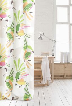 Parvi curtain fabric  design Kirsi Sundell for Eurokangas