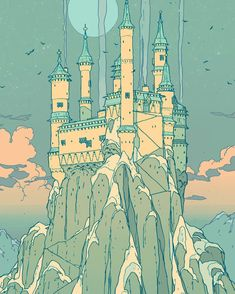 """turndecassette: """"someone asked about the Eyrie and idk, it's another house on another hill """" Pretty Art, Cute Art, Character Art, Character Design, Bg Design, Ligne Claire, Poses References, Environment Concept Art, Environmental Art"""
