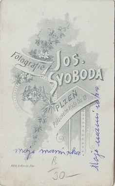 Název atelieru: Fotografie Jos. Svoboda Adresa: Plzeň, Palackého třída 13.