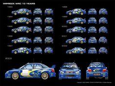Subaru Impreza WRC rally cars