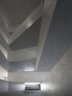 Schaedler Gentsch Architects, Hotel Uetliberg I #uetliberg #zurich #zürich #switzerland #schweiz #hotel #concrete #beton #hall #patio #structure #construction #rationalism #minimalism #architecture #architect #architects #design