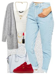 """""""December 12, 2k15"""" by xo-beauty ❤ liked on Polyvore featuring Givenchy, Puma, American Apparel, Bee Charming and MAC Cosmetics"""