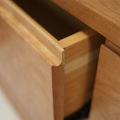 Not a new technique but when done well, a finger groove can drawer that much more beautiful.