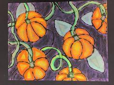Highlight and shadow. so fun! 6th Grade Art, India Ink, Fall Projects, Organic Form, Chalk Pastels, Autumn Art, Art Classroom, 5th Grades, Halloween Art