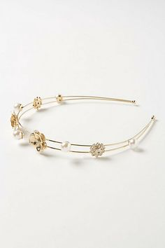 Traced Pearls Headband #anthropologie