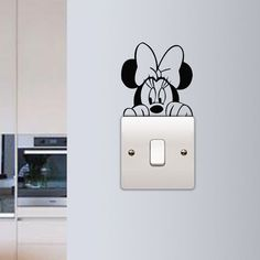 Minnie Mouse Wall Sticker Children Kids Room Light Switch Wall Vinyl Decal Home Decor Cute Minnie Switch Removable Murals Cheap Wall Stickers, Wall Stickers Home Decor, Vinyl Wall Decals, Sticker Vinyl, Simple Wall Paintings, Wall Painting Decor, Creative Wall Painting, Kids Room Lighting, Kids Room Wall Art
