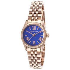 $136 Michael Kors Lexington Quartz Blue Dial Women's Analog Watch #MK3272