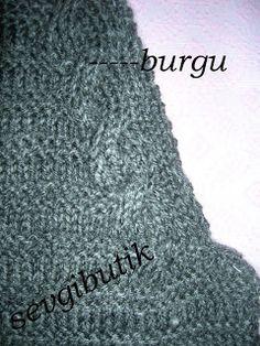 SEVGİ BUTİK: reglan kollu, V yakalı, çizgili, gri hırka Knitting, Crochet, Projects, Fashion, Knits, Dots, Balcony, Log Projects, Moda