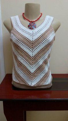 Trendy Crochet Top Girl Dress Tutorials Ideas - Her Crochet Débardeurs Au Crochet, Mode Crochet, Crochet Woman, Crochet Tank Tops, Crochet Summer Tops, Crochet Blouse, Dress Tutorials, Crochet Squares, Crochet Fashion