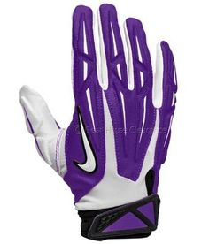 New NIKE SUPERBAD 2.0 Football Receiver Gloves Adult - Purple/White