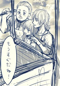 <><> Armin and his parents. Armin Snk, Snk Annie, Female Titan, Fandom Jokes, Rivamika, Eremika, Attack On Titan, Alter, Manga Anime