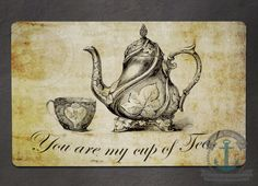 Placemat  You are my Cup of Tea  Vintage by BrandiFitzgerald