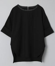 JEANASIS(ジーナシス)のソデロールプルオーバーSS/717770(Tシャツ/カットソー) ブラック