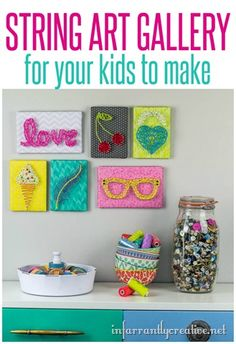 DIY Kids Crafts   String Art Made Easy for Kids ~ These would make a great gift idea!