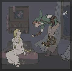 Oh que lindo! Link y zelda haciendo de Peter Pan y Wendy