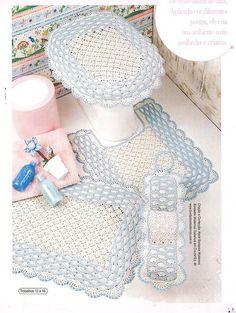 Tapettini bagno on pinterest bathroom sets crochet and - Set de table crochet ...