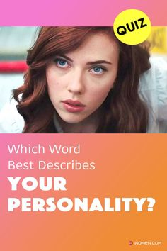 Ever wondered what one word best describes you? Take this personality quiz, and we'll sum it up in one word. #yourpersonality #personalityquiz #funQuiz #aboutyourself #aboutme #personalityTest #wecanguess #whoareyou #innerself #personalitytype Describe Your Personality, Color Personality Test, Personality Quizzes, Describe Yourself, Words, How To Find Out, Personality Tests, Horse