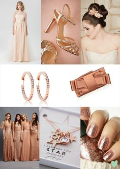 Copper and Rose Gold #Bridal Styling Mood Board from The #Wedding Community