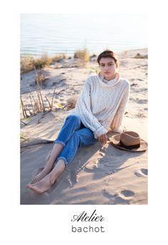 Chunky knit sweater from @atelierbachot Cable knit cashmere sweater