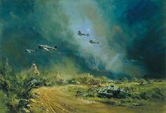 Rocket-Firing Typhoons at the Falaise Gap, Normandy