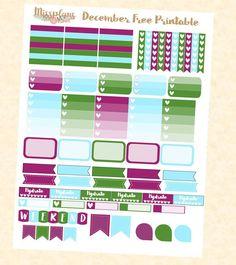 Free December Printable #missplans #printable