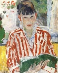 Reading woman, 1913 // by Wouters