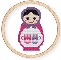 Instant downloadfree shippingCross stitch pattern di danceneedle