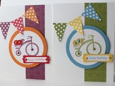 Moving Forward stamp set, Petite Pennant Punch, Polka Dot Parade DSP,