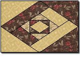 Diamond 4 Patch: I made placemats from a similar design, but this is nice because there is a template.