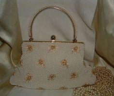 Vintage Genuine Corde Beaded 1950s Handbag by twocrazybagladies, $42.00. https://www.etsy.com/listing/83941384/vintage-genuine-corde-beaded-1950s