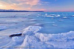 Frozen ocean in Homer, Alaska