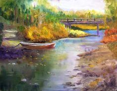 Paint Along with Larry Hamilton - Oct.15, 2014 Oil Painting - Bridge and...